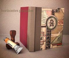Cuaderno encuadernacion a la greca con cartone decorado. Papel liso 80-30gr/m2. #horizontesplegados