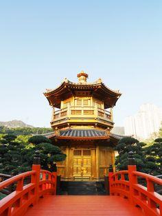The gold temple/pavilion in Nan Lian Garden, Diamond Hill, Hong Kong