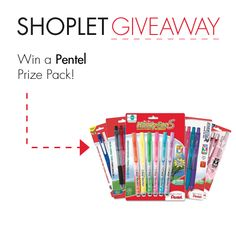 #WIN a Pentel Prize Pack! Repin, then go to our blog and leave us a comment letting us know why you love writing so much :) Good luck!