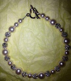 Swarovski Cream Pearls with Crystal Spacers Bracelet on Etsy, $30.00