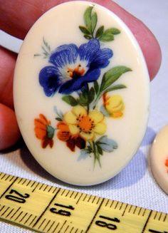 Cabochon   Rare Vintage Floral Bouquet Resin by bansheehouseofmake, $4.00