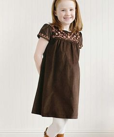 Look what I found on #zulily! Chocolate Floral Sophia Dress - Toddler & Girls #zulilyfinds