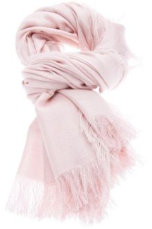 GUCCI Pink Frayed Edge Scarf