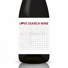 "Love Search ""Proposal"" Wine Label Wrap by Gifted Labels"