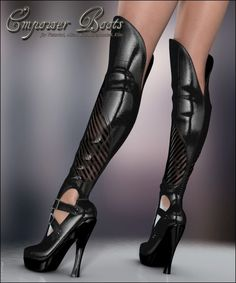 Empower Boots V4/A4/G4 | Clothing for Poser and Daz Studio