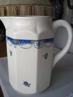 Waschkrug Keramik Kanne Ditmar Urbach Libussa  Böhmen Czechoslovakia Jugendstil