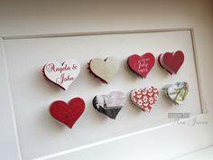 Wedding+Anniversary++8+hearts++3D+keepsake+by+MadeByMrsJones,+£29.00.....cute