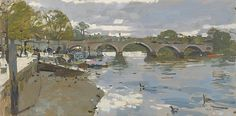 Ken Howard OBE RA - Richmond Bridge, spring 2015