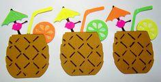 """Reserviert für Olivia Die geschnittenen Hawaiian Luau Cocktailshaker 3"""" für Karten DIY Scrapbooking 2ST"""