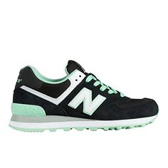 New Balance Womens WL574 Core Plus Collection Running Shoe BlackGreen 5 B US * Check out this great product.(This is an Amazon affiliate link and I receive a commission for the sales)