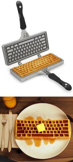 Keyboard waffle maker---the breakfast of geeks!