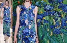 Maison Martin Margiela Fall 2014 Couture inspired by Vincent Van Gogh, Irises. Photoshop by Paulous K