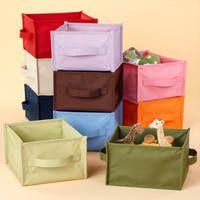Текстильные коробки для домашних вещей.