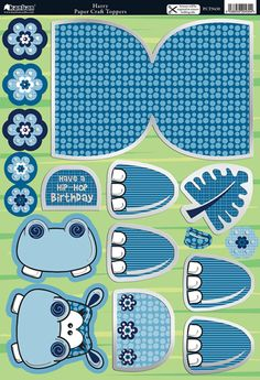 hippo crafts | Kanban Crafts - Wobblers Collection - Die Cut Punchouts and Rocker Kit ...