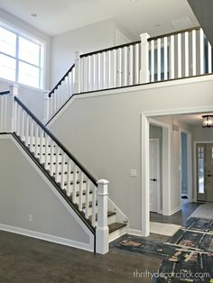 8 Creative And Inexpensive Tips: Bedroom Remodel Walls master bedroom remodel building.Rustic Bedroom Remodel Home bedroom remodel mobile home. Open Staircase, Staircase Railings, Wood Stairs, House Stairs, Staircase Design, Staircases, Stair Spindles, Rustic Staircase, Floating Staircase