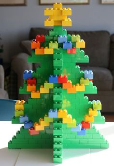 FürOlivia Lego Christmas tree Beauties in Memories Special for Those Who Want to Remember for Lifetime! One of the most special moments of. Lego Christmas Tree, Noel Christmas, All Things Christmas, Christmas Decorations, Lego Design, Lego Activities, Christmas Activities, Manual Lego, Holiday Crafts