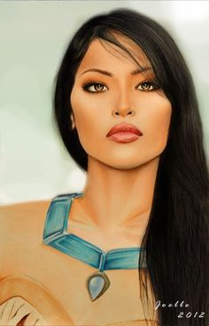 Realistic Pocahontas Art