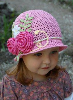 Crochet -oh my goodness... I know some cute little ones who would look good in this!