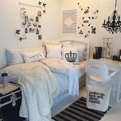 Wake up, kick ass, sleep, repeat   Monochrome Maven Dormify Room