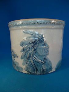 Sleepy Eye Stoneware Butter Crock by Weir of Monmouth Illinois==several Sleepy Eye stoneware pacs at Antiques Oronoco in MN.