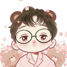 Jongin cutie Bear ✨ Fanart by Cookie Exo Cartoon, Cartoon Drawings, Cute Drawings, Kaisoo, K Pop, Kai Arts, Exo Stickers, Exo Anime, Exo Fan Art