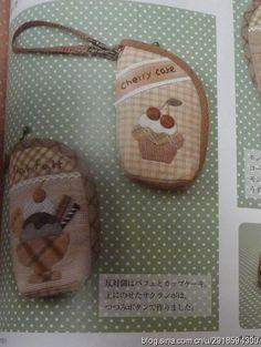 【影子手绘】冰激凌小包(三上奈津子)图纸 Cherry Cake, Free Sewing, Pot Holders, Applique, Projects To Try, Lunch Box, Pouch, Quilts, Beauty Case