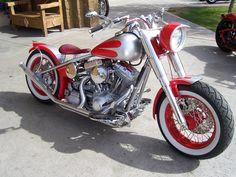 Bobber #Harley red/silver