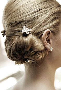 hair, wedding hair, side bun