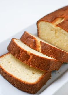 Vanilla Pound Cake: Easy and fewer ingredients than most if you're in a pinch