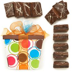 Need a gluten-free gourmet gift idea? Look no further than our delicious gluten-free Vanilla Sea Salt Caramel Brownies!