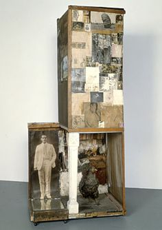 Robert Rauschenberg Untitled (Man with White Shoes) ca. 1954 mixed mediums with taxidermy hen and a pair of painted leather shoes, ca. 87 x 237 x 26 in. Museum of Contemporary Art, Los Angeles Robert Rauschenberg, Jasper Johns, Roy Lichtenstein, Collage Kunst, Collage Art, Camille Pissarro, Andy Warhol, Joan Mitchell, Richard Hamilton