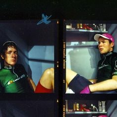 Ghent 6 Mark Cavendish and Brad Wiggins in a cabin in a bad mood.