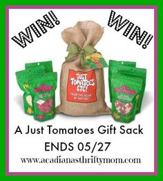 #Win Just Tomatoes Gift Sack- 6 dried Fruit sacks $35 arv- ends 5/27
