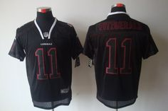 Mens lights out Elite NFL black #11 Fitzgerald Nike Arizona Cardinals Jersey