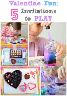 """Valentine Crafts and Activities for Kids -- love the """"love potion lab""""!!"""