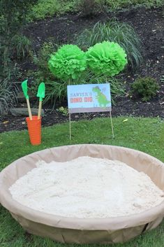 Dino dig at a dinosaur birthday party! See more party planning ideas at http://CatchMyParty.com!