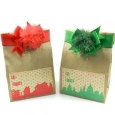 DIY Tutorial - Handmade Holiday Gift Bags