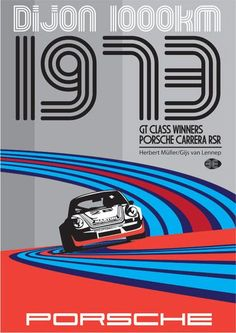 Best Film Posters : Dijon 1000km 1973  Porsche Martini plus.google.com/