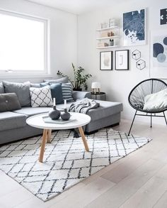 A gorgeous living room by @enkontrast, Tablo Coffee table and String Pocket shelf are all available at www.istome.co.uk