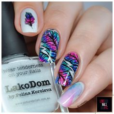N.A.C. – Nail art Challenge Plumes