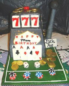 Casino Birthday Cake By JJsGirl on CakeCentral.com