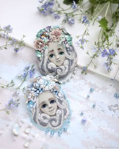 """Brooch """"SPRING"""" in the knitting technique – shop online on Livemaster with shipping - G0FVXCOM 