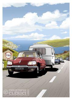 The illustrations of christophe: Citroën DS 23 Pallas Citroen Ds, Psa Peugeot Citroen, Car Illustration, Illustrations, Cars Vintage, Automobile, Vintage Caravans, Classic Mercedes, Car Posters