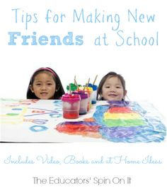 Tips for Making Friends at School from The Educators' Spin On It