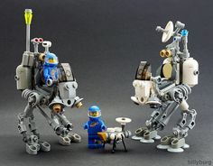 Lunar Explorers and Dog-bot #LEGO #space #MOC