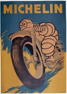 pinterest.com/fra411 #car #poster Michelin poster cafe racer
