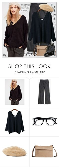 """""""Beret - Parisian inspired accent"""" by breathing-style ❤ liked on Polyvore featuring Free People, Madewell, Ralph Lauren, Tumi and Franco Sarto"""