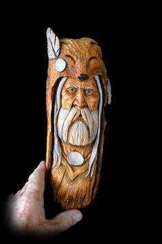 Carving Faces In Wood | Wood Carvings by Bruce - (International Shipping)