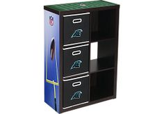 Shop for a NFL CubeStore Carolina Panthers 6 Cube Organizer with 3 Storage Bins at Rooms To Go Kids. Find  that will look great in your home and complement the rest of your furniture. #iSofa #roomstogo