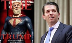 Donald Trump Jr. posts bizarre photo of his father depicted as a superhero